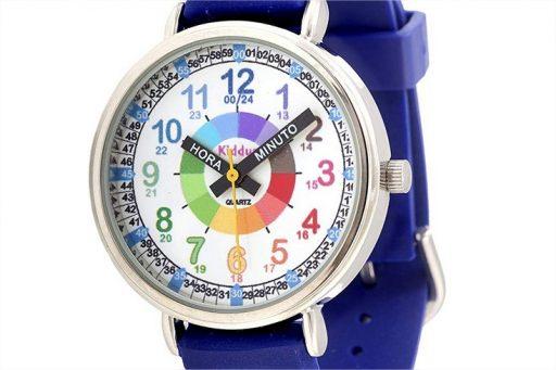 KIDDUS Reloj Educativo para niño, Chica, Chico. De Pulsera, analógico. Time Teacher fácil de Leer para Aprender la Hora. Ejercicio