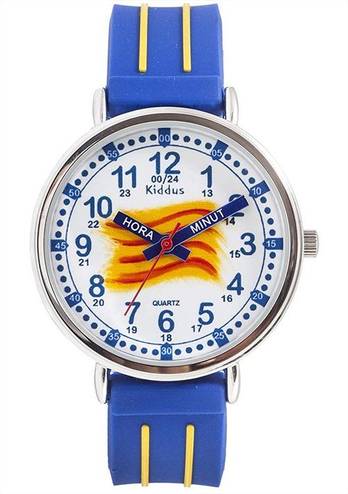 aprendiendo-las-horas-en-catalán-con-kiddus-reloj-educativo