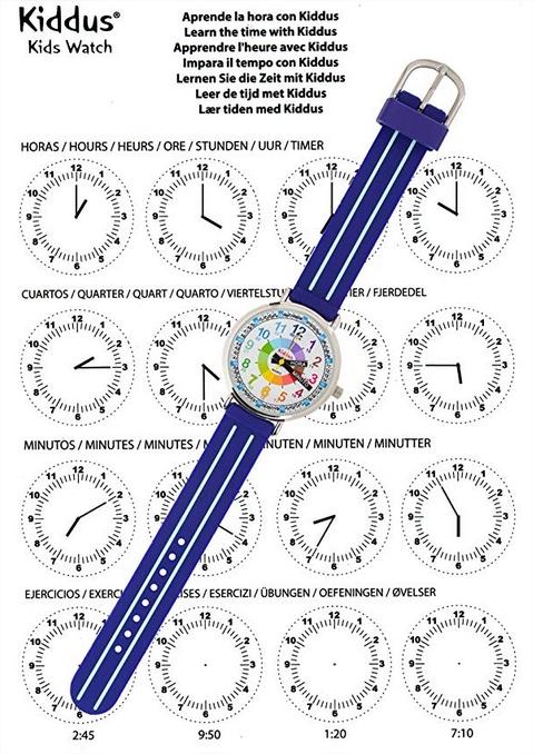ejercicios para aprender las horas con este reloj educativo