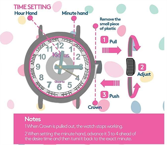 kiddus reloj para aprender las horas
